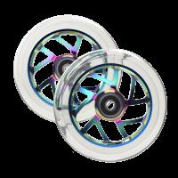 Колёсa для самоката Fuzion 110мм (Neochrome/Clear) 2 шт.