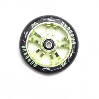 Колесо для самоката AO Quadrum 10-Star 100 мм (Black/Green)